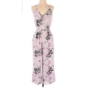 American Eagle Pink Floral Jumpsuit Small